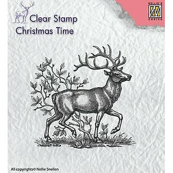 Nellie Snellen Clear Stamp - Christmas Time - Rennes/Stag/Festive