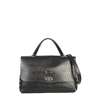 Zanellato 6134st02 Women's Black Leather Handtas