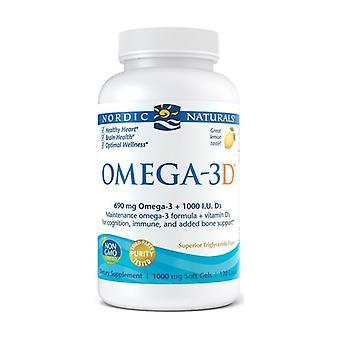 Omega-3D, 690mg Lemon 120 softgels