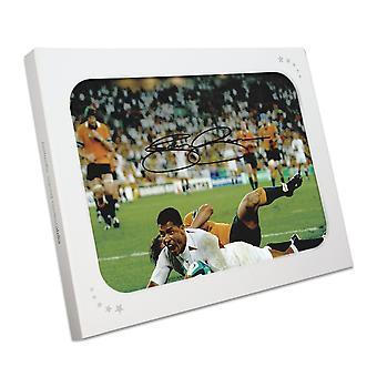 Jason Robinson unterschrieb England Foto: 2003 Rugby-Wm-Sieger. In Geschenk-Box