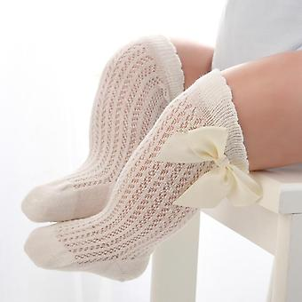 Baby Infant Girl Non-slip Socks Knee High Lace Princess Socks- Long Tube Booties