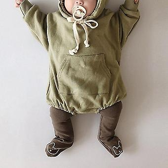 Baby Bodysuits Little Bear Ears Velvet Hoody Bodysuit