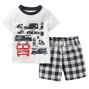 Kid, Pajamas, Summer Cotton, Short Sleeve T Shirt Sleepwear