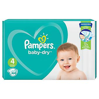 1 x 44 Nappies 4 Baby Pampers 12h Dry Diaper Todler 9-14kg Night Stong  Stretchy