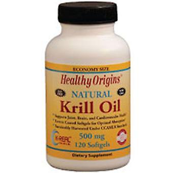 Huile de krill Healthy Origins, 500 mg, 120 gels mous