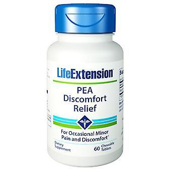 Life Extension PEA Ubehag Relief, 60 Tyggefaner