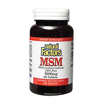Luonnolliset tekijät MSM, 1000 mg, 180 Tabs