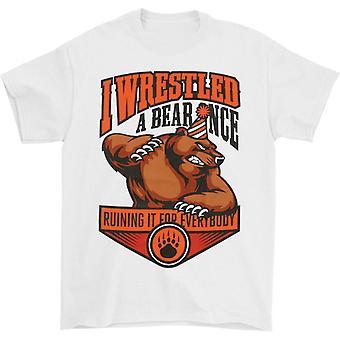 Iwrestledabearonce Party Mascotte T-shirt