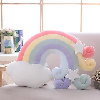 Godis färg moln, stjärna, måne, regnbåge, crown design kudde för soffa / Hem