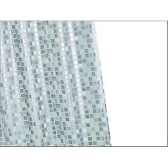 Croydex Mosaic PVC Shower Curtain Silver AE543440