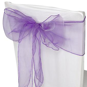 17cm x 274cm Organza Table Runners Wider et Fuller Sashes Lilac Purple