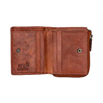 Primehide Leather Womens Small Purse RFID Blocking Card Wallet Arizona Collection 3600