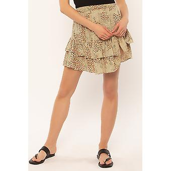 Roa samhället loren vävda mini kjol
