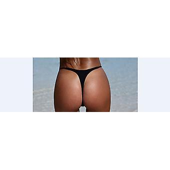 Sommer Kvinner Damer Bikini Thong Bunner Sexy Solid Badetøy Badedrakt