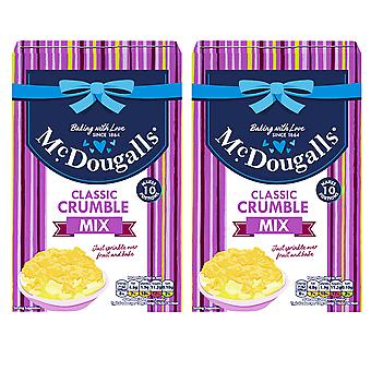 2 x 400g McDougalls Classic Crumble Mix Cup Cake Muffin Dessert Topping Baking