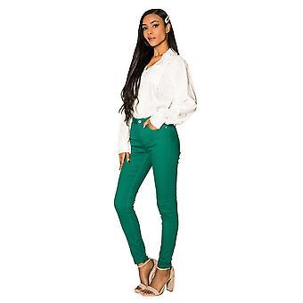Women Denim Jeans Basic Stretch Pants Skinny tube Trousers Jaggings Big Size