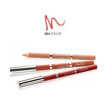 Defense Color Lip Design 204 Röd 1 enhet