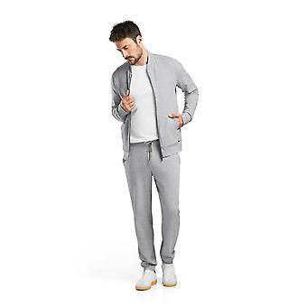 Hanro Men's Sleep & Lounge Living Leisure Zip-coat grey