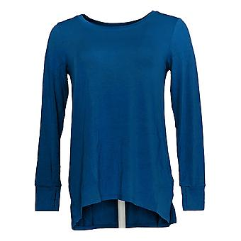 Cuddl Duds Women's Top Stretch Long Sleeve Crew Neck Blue A381708