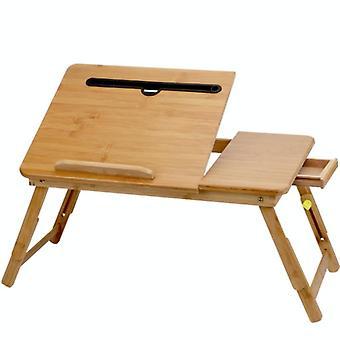 Pliage laptop desk desk slot slot lifting type paresseux computer desk, taille: grand (72cm), style:with Drawer