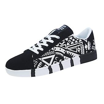 Vulcanized Sneakers, Fashion Casual, Lace-up Canvas, Sport Graffiti, Shoes's
