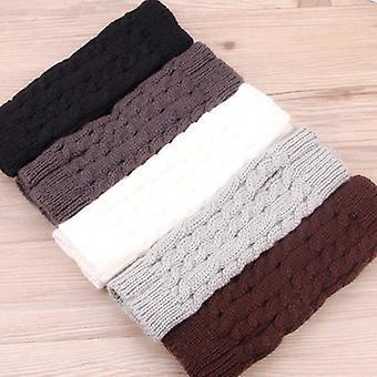 スタイリッシュなハンドウォーマーウィンターグローブアーム、かぎ針編みのフェイクウールミッテンウォーム