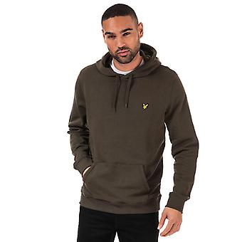 Men's Lyle And Scott Pullover Hoody in Green
