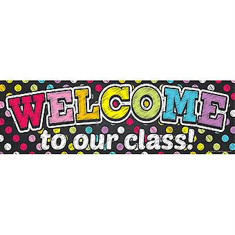 Magnetic Welcome Banner, Neon Chalk Dots