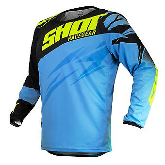 2020 Shot Devo MX Jersey Adult - Ventury Blue Neon Yellow