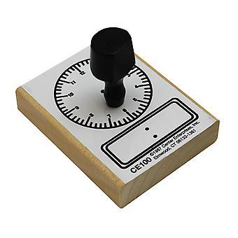 Sello de reloj digital y analógico