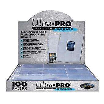 10-Pack Ultra Pro Silver Series Pages 9 Pockets Collector's Pocket Transparent