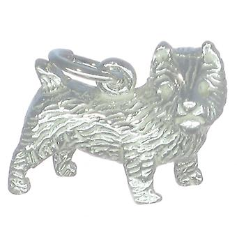 Cairn Terrier Dog Sterling Silver Charm .925 X 1 Terriers Dogs Charms - 277