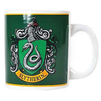 Harry Potter -muki Slytherin House Crest Logo uusi virallinen valkoinen laatikko