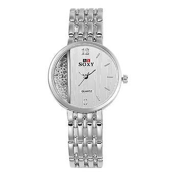 SOXY 0137 Crystal Casual Style Ladies Armbåndsur Unikt Design Kvarts Watch
