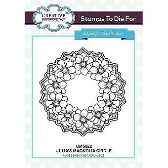Kreative Ausdrücke Julia's Magnolia Kreis pre Cut Stempel Ko-ords mit CED4345
