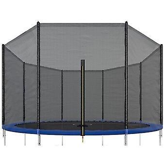Trampolinnetz - 305 cm - Außenkante - 6 Stangen - 150cm hoch