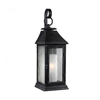 Lámpara De Pared Shepherd, Cynk Oscuro Y Vidrio, Pequeña