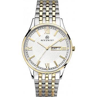 Accurist 7247 Signature Zlaté & Stříbrné nerezové pánské hodinky
