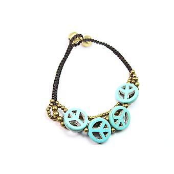 Boho Peace Symbol Bracelet