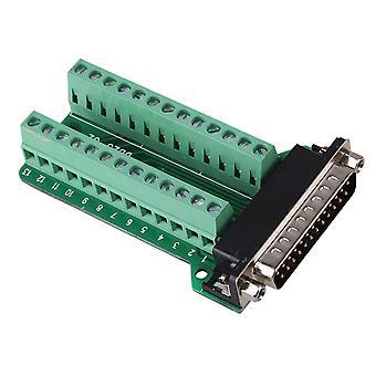 DB25-G2-01 Férfi 25Pin Port Breakout PCB board terminál csatlakozók csavaros anya típus