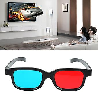 3d Glasses Plastic / Oculos / Red Blue Cyan Glass, Anaglyph Movie Game, Dvd