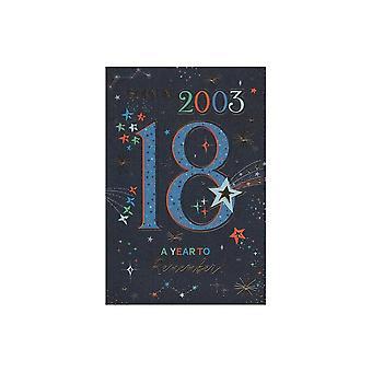 ICG Ltd 2021 Male 18 Year You Were Born Birthday Card