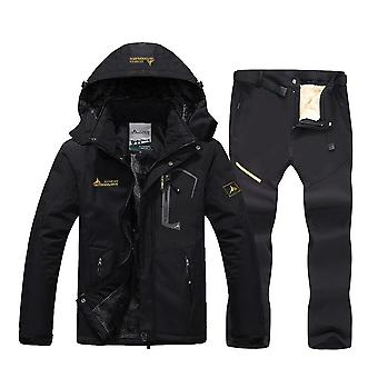 Men Waterproof Windproof Skiing And Snowboard Jacket Pants Sets