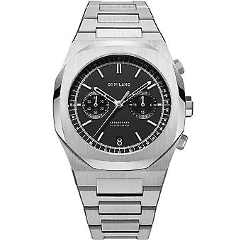 D1 Milano D1-chbj08 Cronografo Black & Silver Stainless Steel Mens Watch
