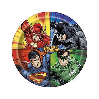 8 Justice League kartonnen platen 23 cm