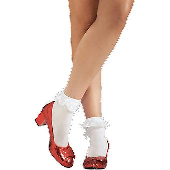 Adult Dorothy Wizard Oz Ruby Slippers Ladies Fancy Dress Costume Shoes