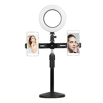 6 Inch Mini LED Video Ring Light Lamp Dimmable 3 Lighting Modes USB Powered