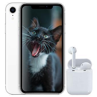 iPhone XR White 64 GB + trådløse hovedtelefoner