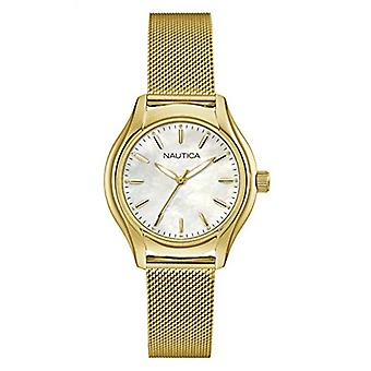 Nautical Analog Quartz Watch Woman with Stainless Steel Strap NAD12546L