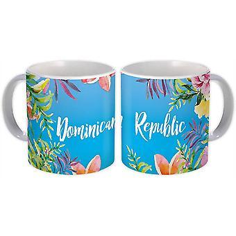 ספל מתנה: פרחים הרפובליקה הדומיניקנית מזכרת